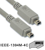 Cable: Firewire 400 (ieee 1394a) 4pin - 4pin 1.5M