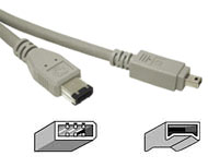 Cable: Firewire 400 (ieee 1394a) 6pin - 4pin 1m