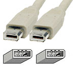 Cable: Firewire 400 (ieee 1394a) 6pin - 6pin 1.5M