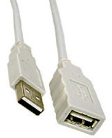 Cable: USB Extention Cable A - A receptacle, 2m