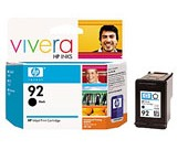 HP NO 92 BLACK INK PRINT CARTRIDGE