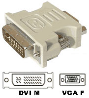 DVI-I Adaptor 24+5pin Male to VGA (15pin) Female