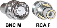 BNC Connector Male - RCA  Female