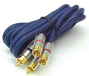RCA Cable 2x Male - 2x Male 10m Gold Connector