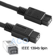Cable: Firewire 800 (ieee 1394b) 9pin - 9pin 2M