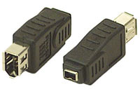 Adaptor: ieee 1394a 4pin Female - 6pin Female