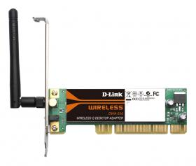 D-Link Wireless G 11/54MBPS PCI ADAPTER,REVERSE SMA DETACHABLE ANT [DWA-510]