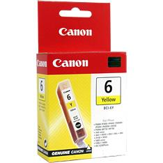 Canon BCI6Y Yellow for BJC-8200,S800,S820,S820D,S900,S9000