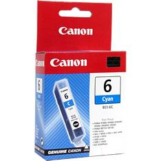 Canon BCI6C Cyan for BJC-8200,S800,S820,S820D,S900,S9000.