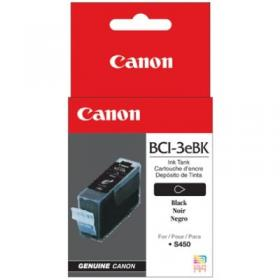Canon BCI3eBK Black for S400/450 series,S500/600 series,S4500,S6300,BJC-3000/6000 series, Multipass C100,ImageCLASS MPC600F/400.