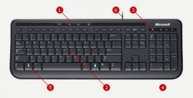 Microsoft Wired Keyboard 600 Retail,