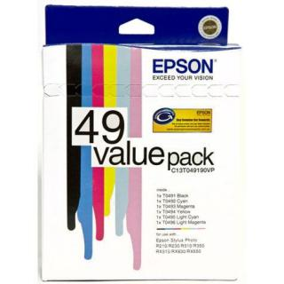 EPSON 491-496 INK CARTRIDGE VALUE PACK R210, R230,...