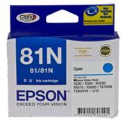 EPSON 81N CYAN INK CART HIGHCAP CLARIA INK TX650,T...
