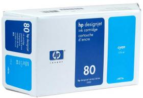 HP NO 80 C4872A, Cyan Ink 175ml HP DesignJet 1050C and 1055CM printers