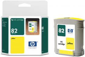 HP NO 82 C4913A, Yellow Ink 69ml for Suits DesignJet 500 and 800