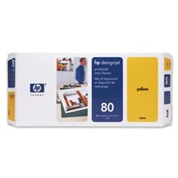 HP NO 80 C4848A, Yellow Ink 350ml HP DesignJet 105...