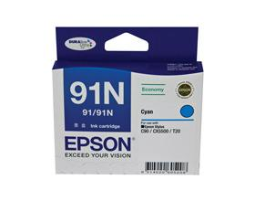 EPSON C90/91N Low Cost CYAN INK CARTRIDGE, [C13T10...