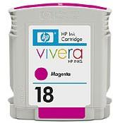 HP NO 18 MAGENTA INK CARTRIDGE, [C4938A]