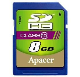 8GB Apacer SDHC Class10 Retail for DSLR and video recorder, 10MB/s minimum writing performance, [AP8GSDHC10-R]