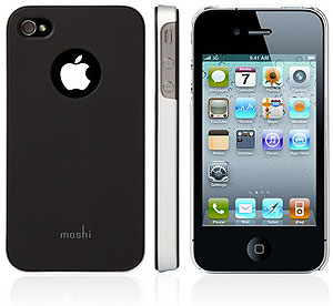 Moshi iGlaze4 iPhone 4 cover with protective film - Black