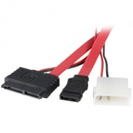 Micro SATA to Molex power and SATA data cable