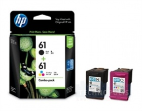 HP 61 Combo-pack Black/Tri-color Ink Cartridges