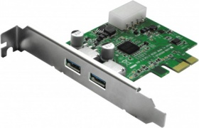 2 Ports USB 3.0 PCI-e Card - 4-pin Molex power con...