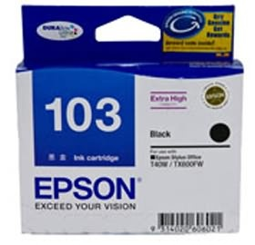 EPSON EXTRA HIGH CAPACITY BLACK INK FOR T40W,TX600FW,TX610FW,TX550, [C13T103192]