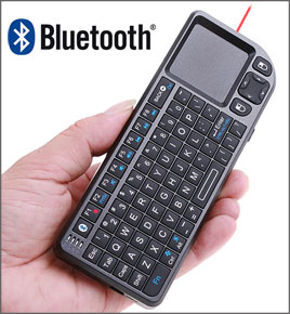 Bluetooth Mini Wireless Keyboard + Touch Pad + Presenter Combo