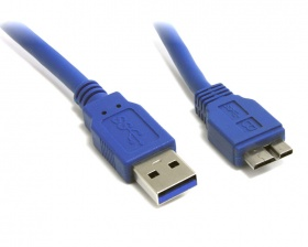 Cable: USB 3.0 A to USB 3.0 micro B 0.5m