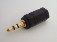2.5mm Stereo Male Plug Gold Connector  to 3.5&quot...