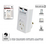 SANSAI Surge Protector with 2x USB Charging Outlet...