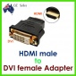 Converter: DVI-D Adaptor 24+1pin Female to HDMI Male Converter