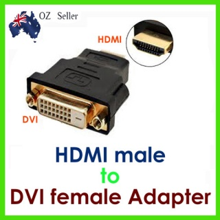 Converter: DVI-D Adaptor 24+1pin Female to HDMI Ma...
