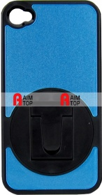 iPhone 4 / 4S Case with Standard - Blue Black