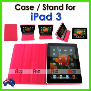 RichBoss High Quality Leather Case for The new iPad 3 -  Pink, OEM