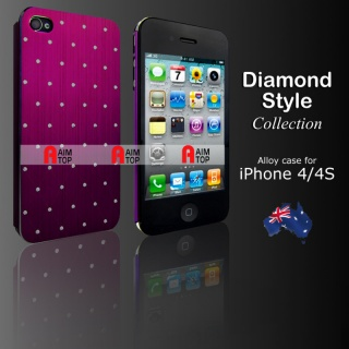 Aluminium Diamond Style Case for iPhone 4 / 4S - P...