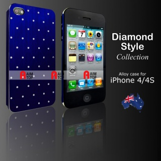 Aluminium Diamond Style Case for iPhone 4 / 4S - D...