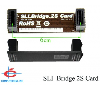 2-Way SLI Bridge, Cards between 6cm