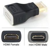 Converter: mini HDMI Male (Type C) - HDMI Female (Type A receptacle) adapter