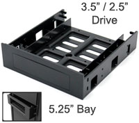 "3.5"" Frame to Fit in 5.25"" CD-Rom Bay, Black"