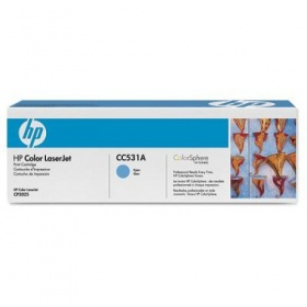 HP CLJ CP2025 CYAN PRINT CARTRIDGE WITH COLORSPHERE TONER, [CC531A]