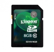 8GB Kingston SDHC Class 10 Flash Card [SD10V/8GB]