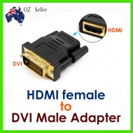 Converter: DVI-D Adaptor 24+1pin Male to HDMI Female Adapter / Converter
