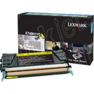 Lexmark X748H1YG YELLOW HIGH YIELD 10K TONER RETUR...
