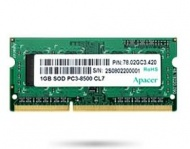4GB Apacer DDR3 SODIMM PC8500-4GB 1066Mhz OEM Pack...