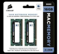 16GB Corsair (2x8GB) Mac Memory, 1600MHz DDR3 memory module for Apple iMac, MacBook, MacBook Pro, IMac and Mac mini.