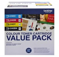 BROTHER TN240 CYMK TONER PACK 2,000 + 3X 1,400 PAG...