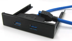 USB 3.0 Front Bay / Panel 2-port, Fits in Desktop ...