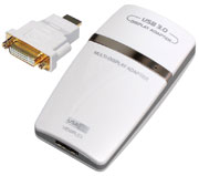 USB 3.0 to HDMI Apapter with Audio, [SH-UGA35H5], DVI via Converter, up to 2048 x 1152 pixels